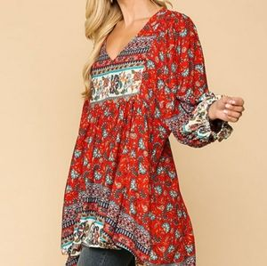 New umgee anthropology dress red s m l